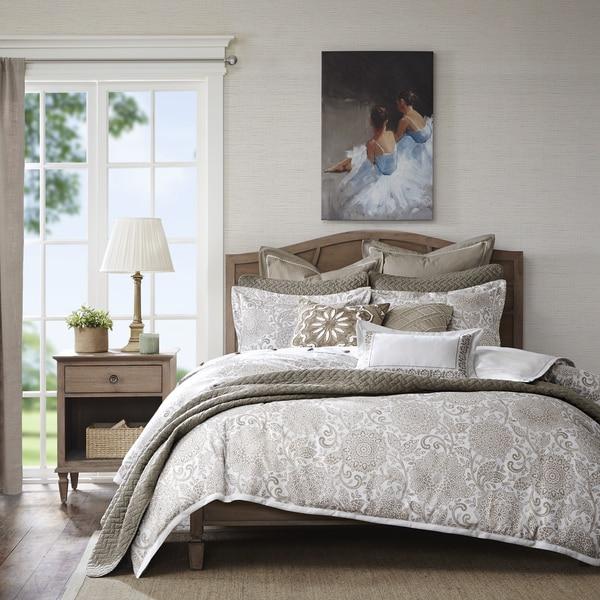 Madison Park Signature Sophia Ivory Jacquard Comforter Set - Free ...