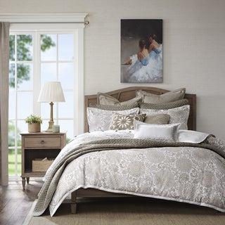 Madison Park Signature Sophia Ivory/ Taupe Jacquard Comforter Set