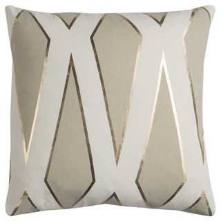 Rachel Kate by Rizzy Home 20-inch Grey Geometric Cotton Casement Decorative Throw Pillow