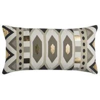 Rachel Kate by Rizzy Home Grey/ Ivory Geometric Cotton Casement Decorative Throw Pillow