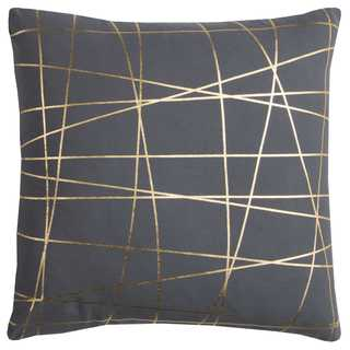 Rachel Kate by Rizzy Home Grey Abstract Cotton Casement Decorative Throw Pillow