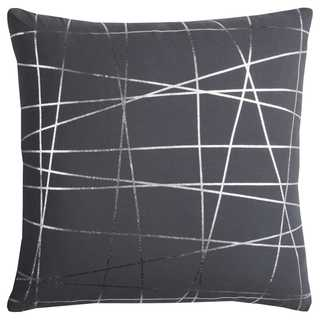 Rachel Kate by Rizzy Home 20-inch Grey Abstract Cotton Casement Decorative Throw Pillow