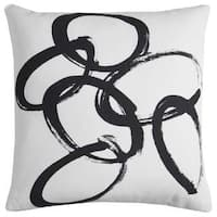 Rachel Kate by Rizzy Home Off-white Abstract Cotton Casement Decorative Throw Pillow