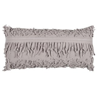 Rizzy Home Taupe Cotton Textured Decorative Throw Pillow