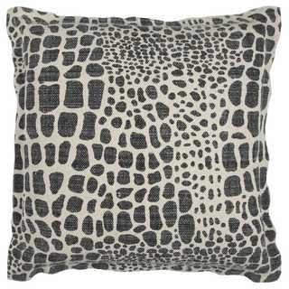 Rizzy Home Cotton 22-inch x 22-inch Animal Print Decorative Filled Throw Pillow