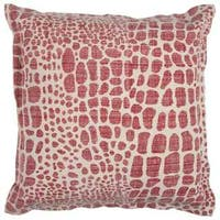 Rizzy Home Animal Print Red Cotton 22-inch x 22-inch Decorative Filled Throw Pillow