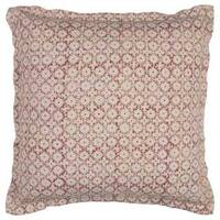 Rizzy Home Geometric Solid Cotton 22-inch x 22-inch Decorative Filled Throw Pillow