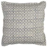 Rizzy Home Geometric Solid 22-inch x 22-inch Cotton Decorative Filled Throw Pillow
