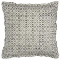 Rizzy Home Off-white Cotton Geometric Decorative Throw Pillow 22-in