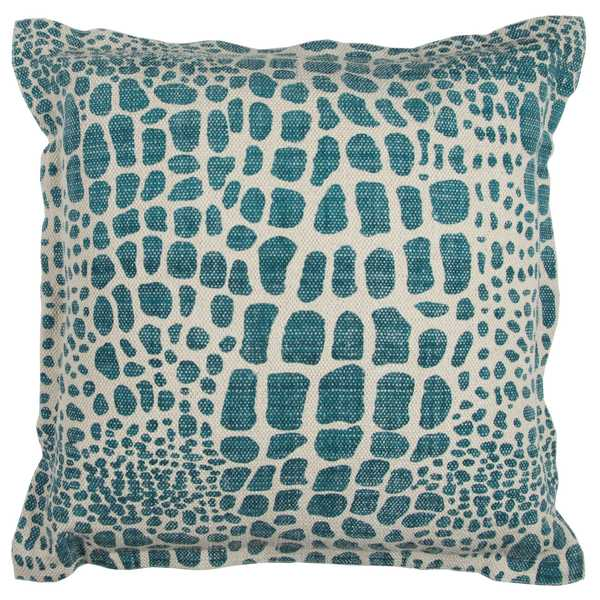 Rizzy Home Animal Print 22-inch x 22-inch Cotton Decorative Filled Throw Pillow