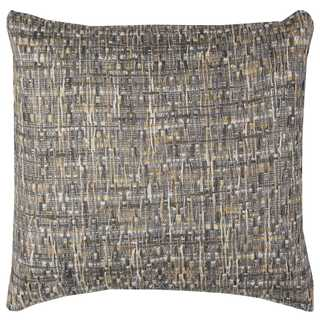 Rizzy Home All-over Threaded Cotton 22-inch x 22-inch Decorative Throw Pillow