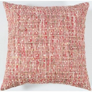 Rizzy Home All-over Threaded Pattern Multicolor Cotton 22-inch Square Throw Pillow
