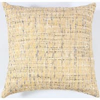 Rizzy Home All-over Threaded Pattern 22-inch x 22-inch Cotton Decorative Filled Throw Pillow