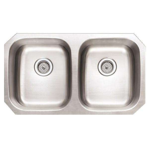 Winpro Undermount Double Bowl Stainless Steel Kitchen Sink. Opens flyout.