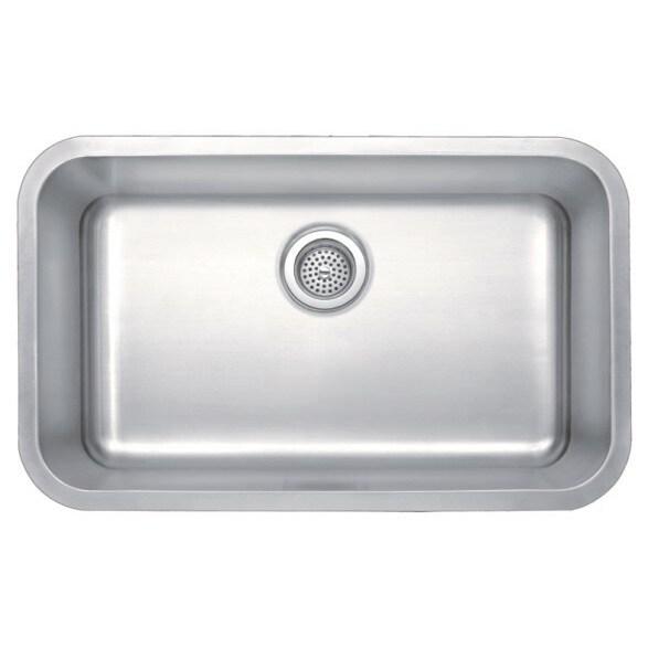 Shop Winpro Undermount Single Bowl Stainless Steel Kitchen Sink ...