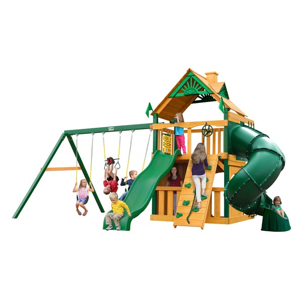 Gorilla Playsets Mountaineer Clubhouse w/ Timber Shield and Standard Wood Roof