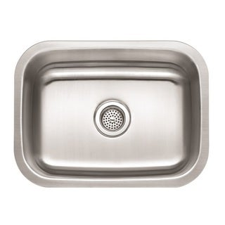 Winpro Undermount Single Bowl Stainless Steel Kitchen Sink