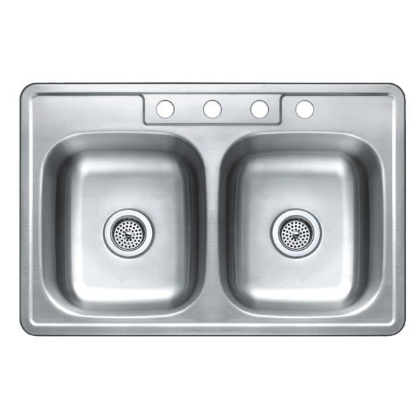 Admirable Winpro Top Mount Double Bowl Stainless Steel Kitchen Sink Home Interior And Landscaping Palasignezvosmurscom