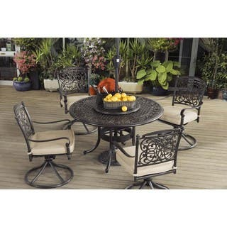 Sunjoy Renaissance Aluminum And Steel 7 Piece Dining Set