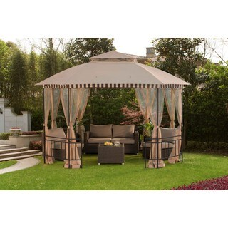 Sunjoy 12 x 10 Soft-Top Gazebo with Mosquito Netting