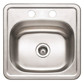 Winpro Top Mount Single Bowl Stainless Steel Bar Sink