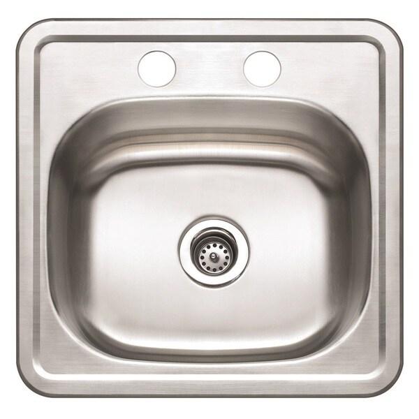 Winpro Top Mount Single Bowl Stainless Steel Bar Sink