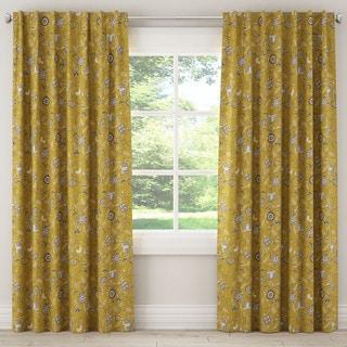 Skyline Dahlia Yellow Blackout Window Panel