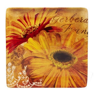 Certified International 12.5-inch 'Gerber Daisy' Square Platter