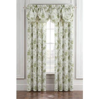 Royal Heritage Williamsburg Burwell Green and White Cotton Window Valance|https://ak1.ostkcdn.com/images/products/14310190/P20891964.jpg?impolicy=medium