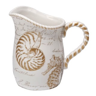 Certified International Coastal Discoveries Ceramic 88-ounce Pitcher
