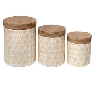 Certified International Daisy Dots 3-piece Canister Set