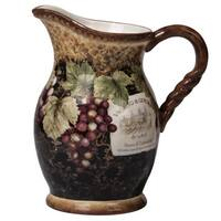 Certified International Gilded Ceramic 88-ounce Wine Pitcher