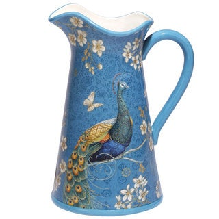 Certified International Exotic Garden Ceramic 96-ounce Pitcher