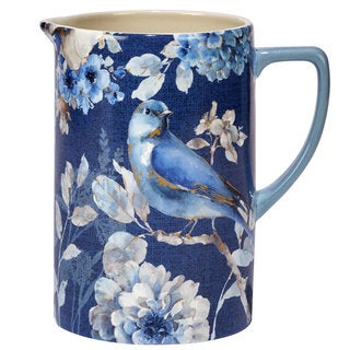 Certified International Indigold Blue/White Ceramic 80 oz Pitcher