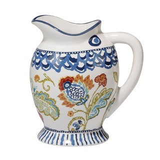 Certified International San Marino 3-D Fish Ceramic 80 oz Pitcher