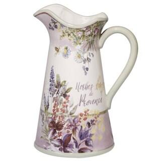 Certified International Herbes de Provence Ceramic 96oz Pitcher