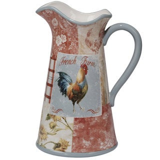 Certified International Farm House Ceramic 96-ounce Pitcher