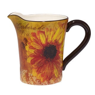 Certified International Gerber Daisy Yellow/Orange 112-oz Pitcher
