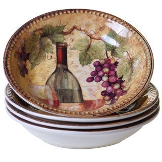 Link to Certified International Gilded Ceramic Soup/Pasta Bowls (Pack of 4) Similar Items in Dinnerware