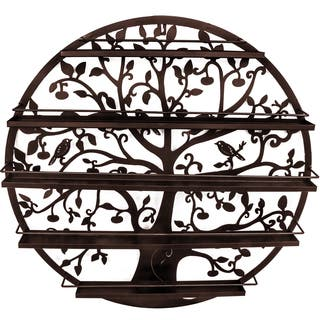 Tree Silhouette Bronze Wall-mounted 5-tier Nail Polish Rack|https://ak1.ostkcdn.com/images/products/14310241/P20892006.jpg?impolicy=medium