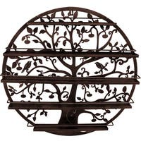 Tree Silhouette Bronze Wall-mounted 5-tier Nail Polish Rack