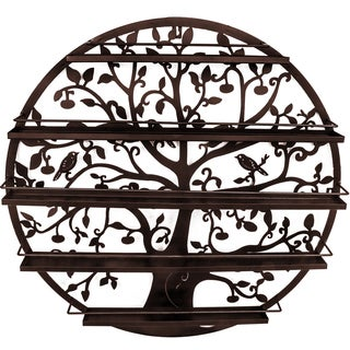 Tree Silhouette Bronze Wall-mounted 5-tier Nail Polish Rack