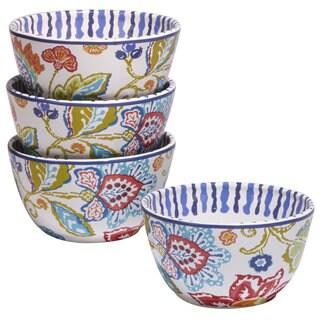 Certified International San Marino Ceramic 6-inch x 3.25-inch Ice Cream Bowls (Pack of 4)