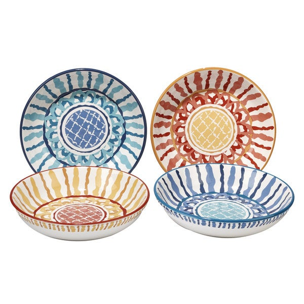 Certified International San Marino 9.25-inch Soup/Pasta Bowls, Set of 4 Assorted Designs