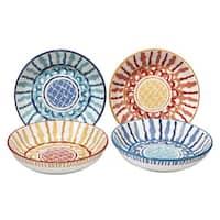Certified International San Marino 9.25-inch Soup/Pasta Bowls, Set of 4 Assorted Designs