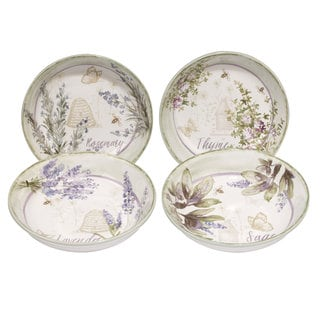 Certified International Herbes de Provence Ceramic 9.25-inch x 2-inch Assorted Soup/Pasta Bowl (Pack of 4)