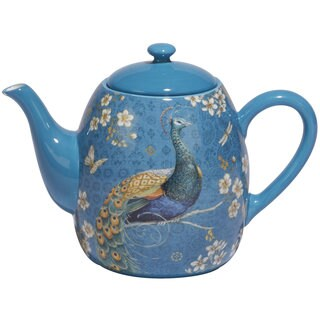 Certified International Blue Ceramic 36-ounce Exotic Garden Teapot
