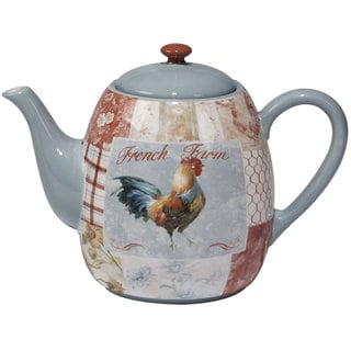Certified International Farm House Ceramic 40 oz. Teapot