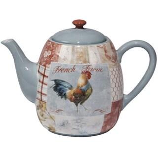 Certified International Farm House Ceramic 40 oz. Teapot