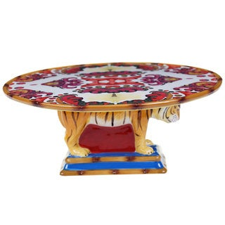 Tracy Porter for Poetic Wanderlust 'Imperial Bengal' 12-inch 3-D Bengal Cake Stand